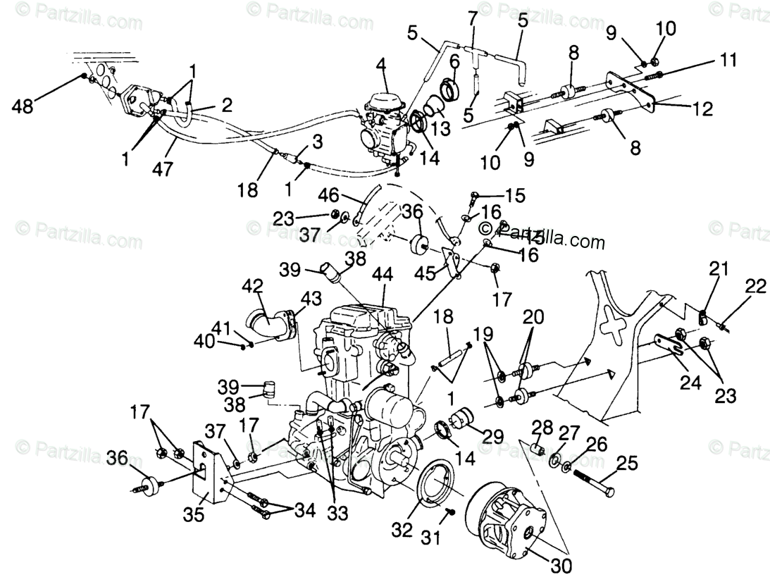 Polaris Sportsman 500 Engine Diagram