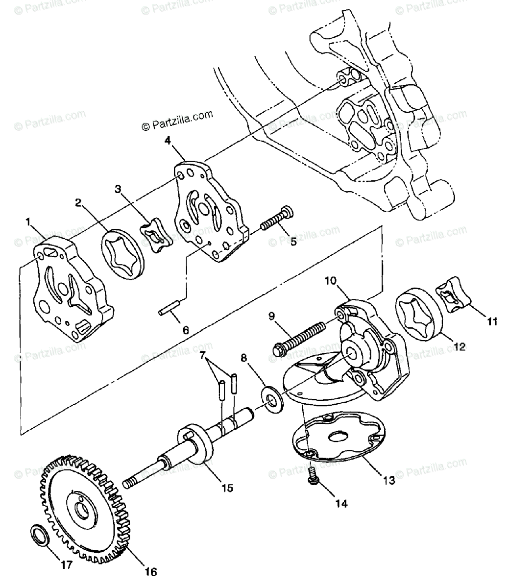 Polaris Atv Oem Parts Diagram For Oil Pump S98ch50e