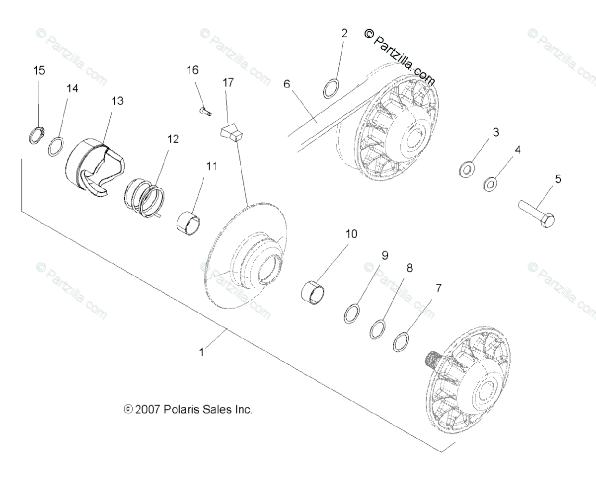Polaris Atv Oem Parts Diagram For Drive Train
