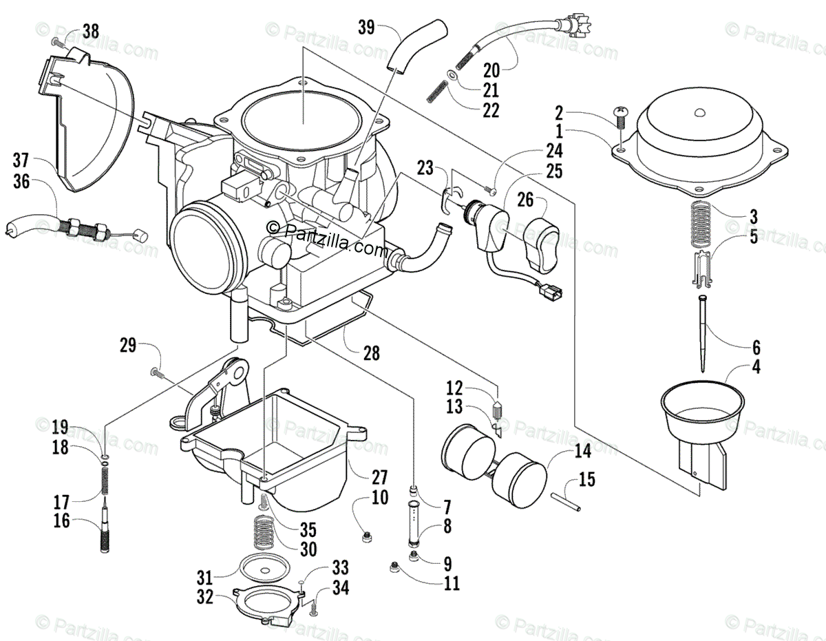 Arctic Cat Atv Oem Parts Diagram For Carburetor