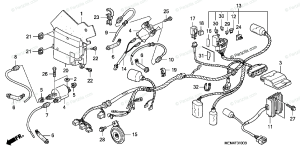 Honda Motorcycle 2006 OEM Parts Diagram for Wire Harness