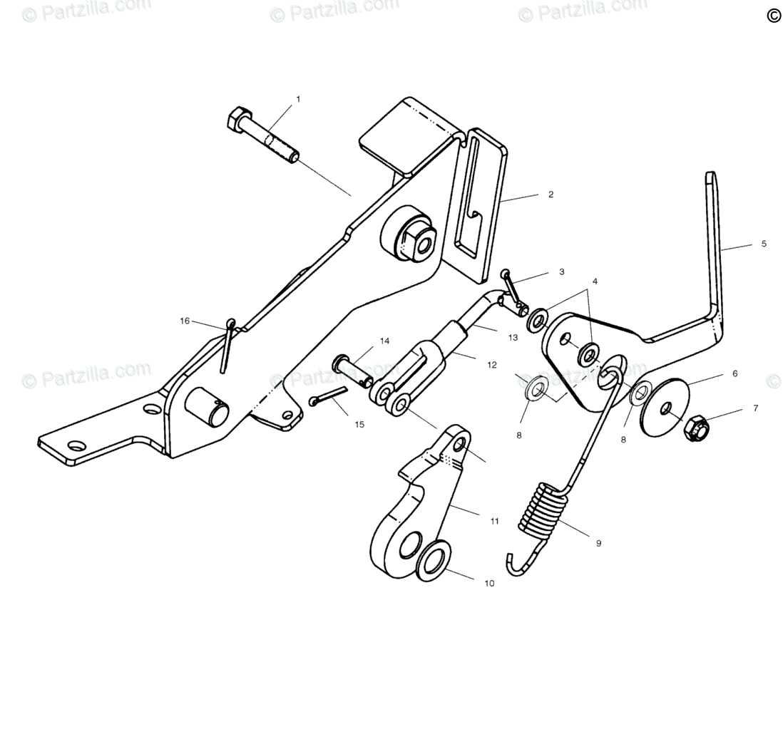 Polaris Atv Oem Parts Diagram For Foot Brake