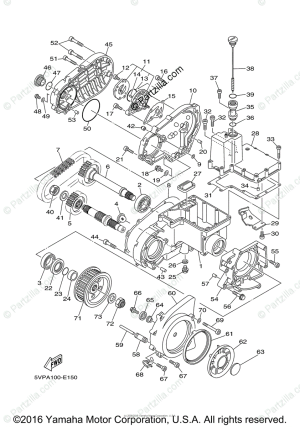 Yamaha Motorcycle 2007 OEM Parts Diagram for Middle Drive