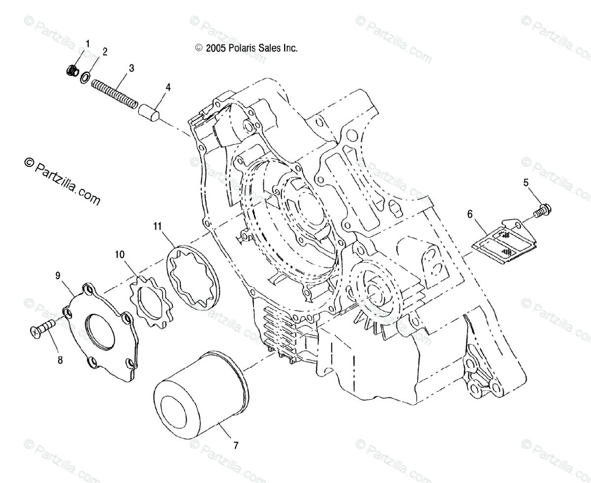 Polaris Atv Oem Parts Diagram For Oil Pump