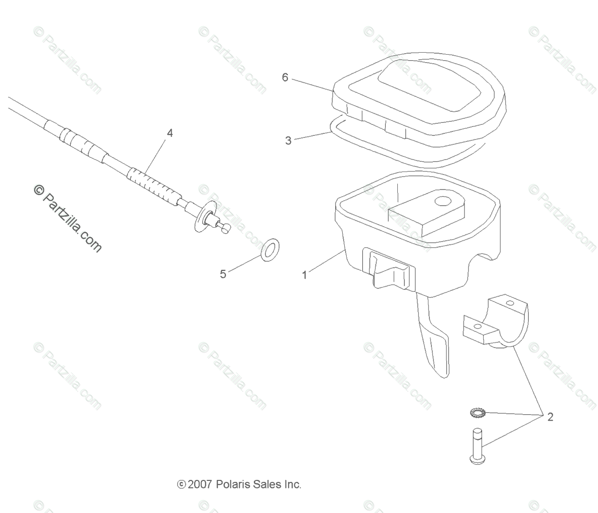 Polaris Atv Oem Parts Diagram For Steering Controls