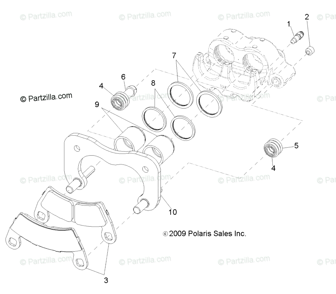 Polaris Side By Side Oem Parts Diagram For Brakes