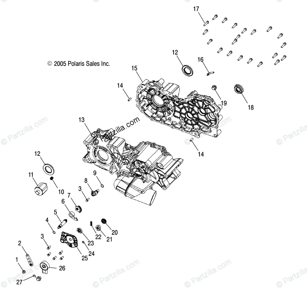 Polaris Atv Oem Parts Diagram For Transmission