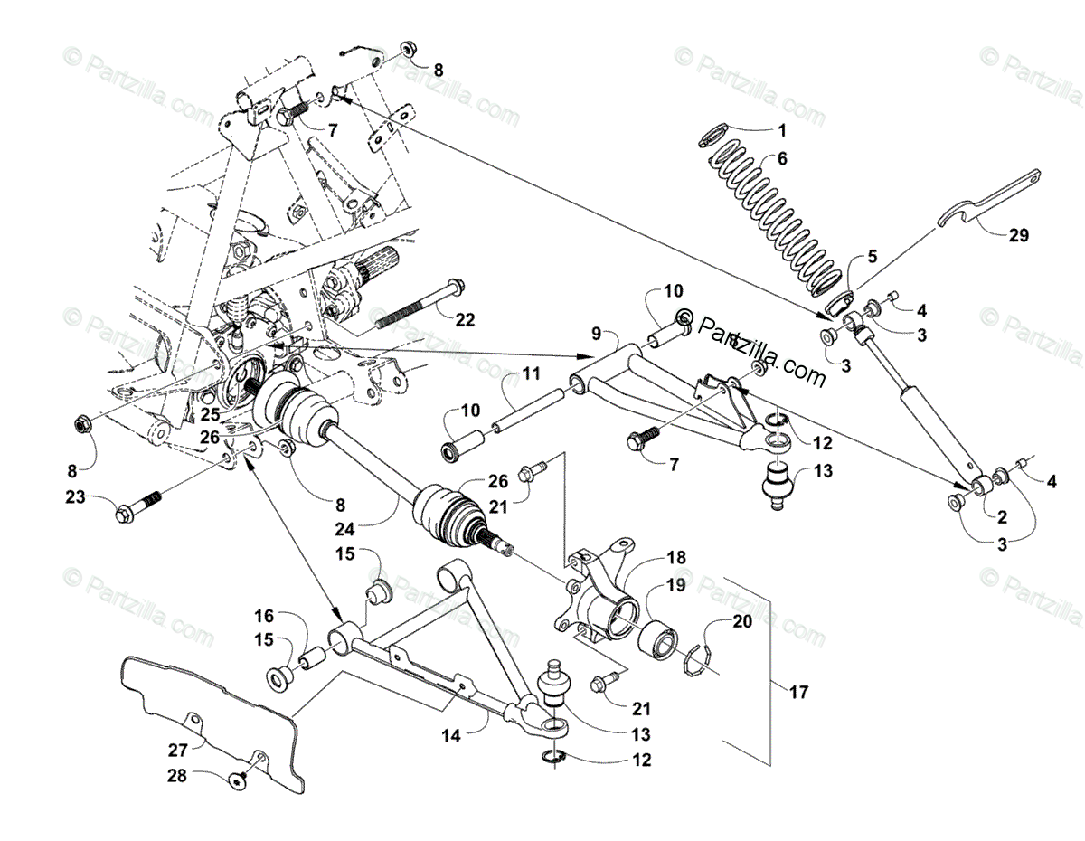 Arctic Cat 650 H1 Engine Parts Diagram
