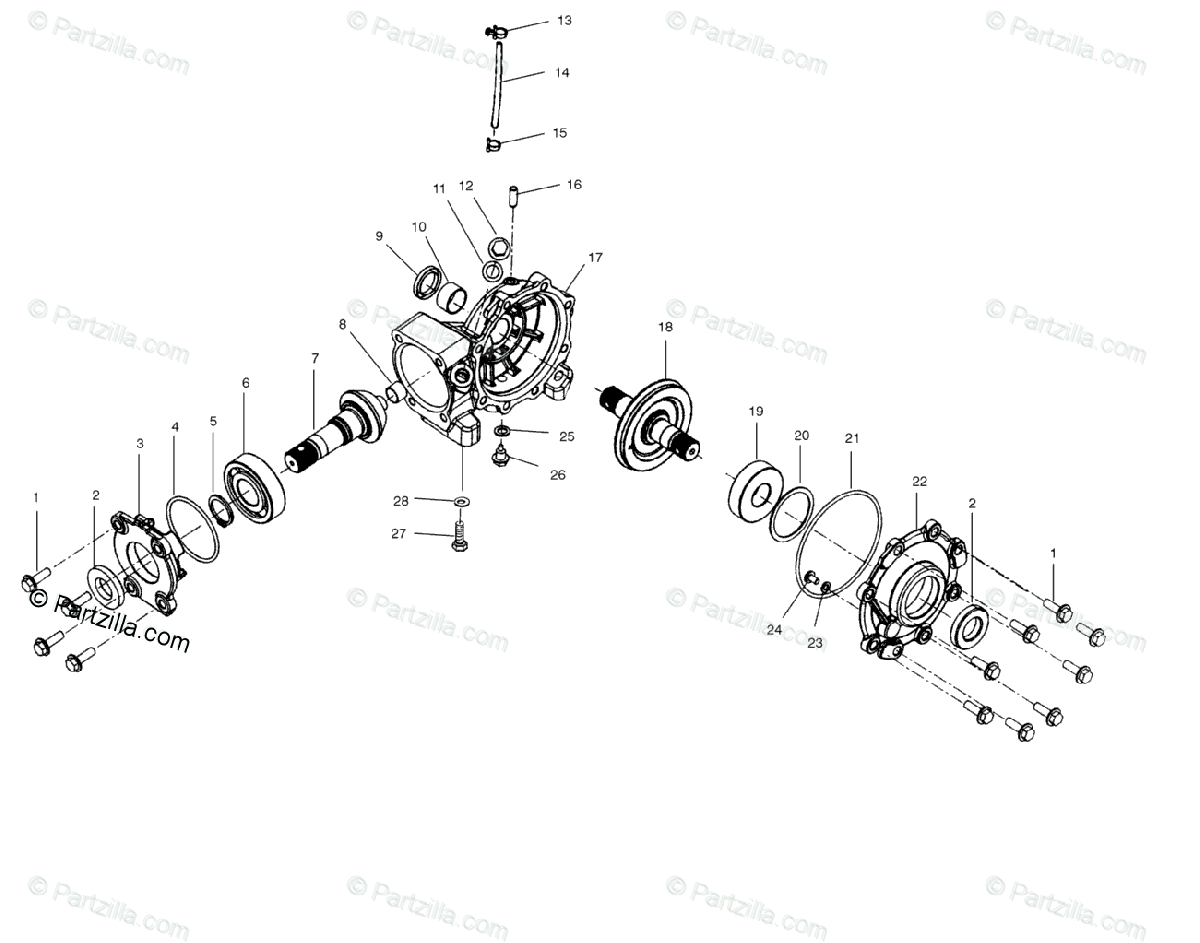 Polaris Atv Oem Parts Diagram For Front Housing