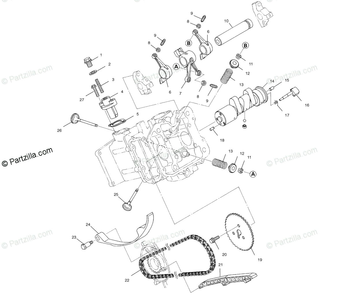 Polaris Atv Oem Parts Diagram For Intake Amp Exhaust
