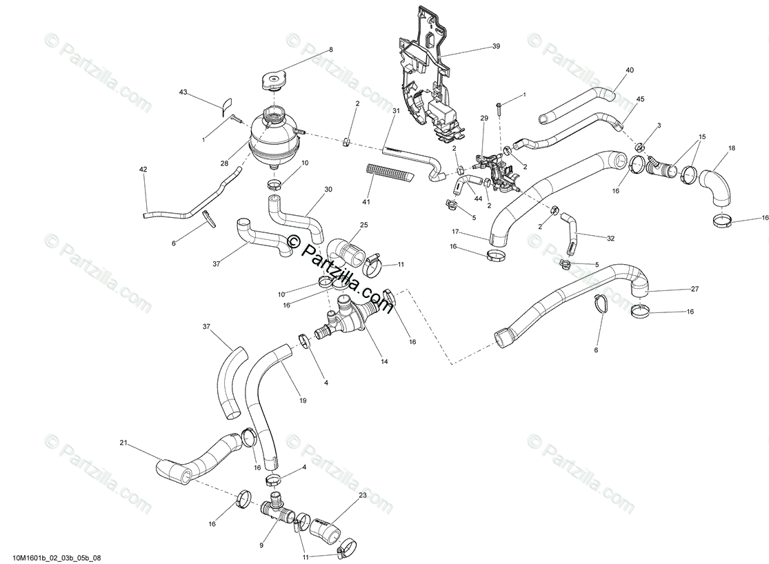 Ski Doo Renegade 800r E Tec Oem Parts Diagram For