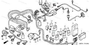Honda Motorcycle 1999 OEM Parts Diagram for Wire Harness
