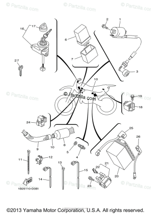 Yamaha Motorcycle 2007 OEM Parts Diagram for Electrical  1 | Partzilla