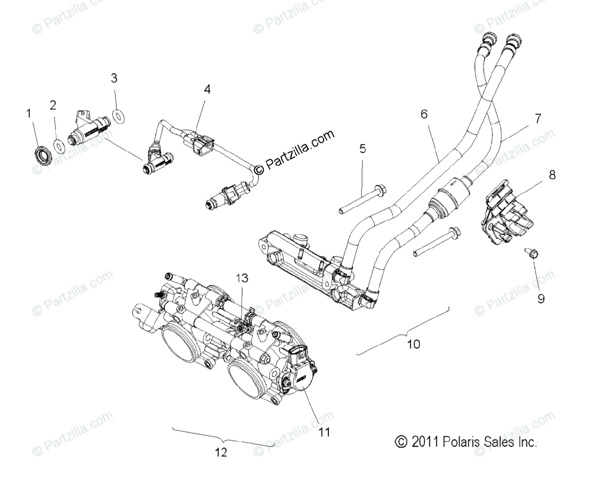 Polaris Snowmobile Oem Parts Diagram For Fuel System