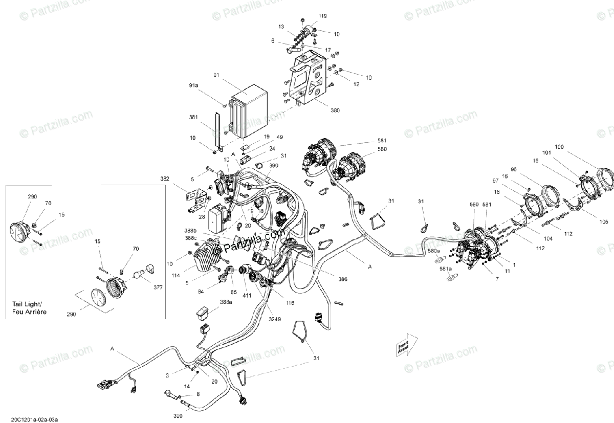 Can Am Side By Side Oem Parts Diagram For Electrical System