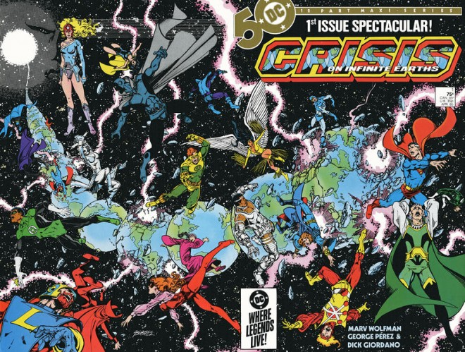 Image result for 1985's Crisis on Infinite Earths