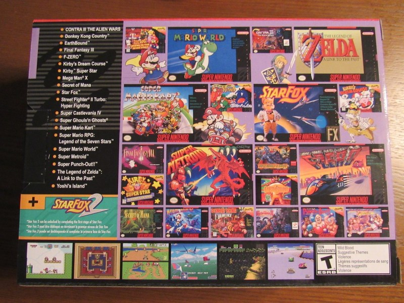 The Super NES Classic Edition Photo Gallery    Games    Features     snes classic back cover jpg