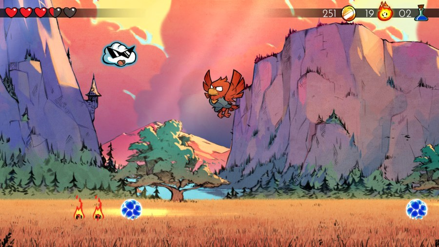 Image result for wonder boy and the dragon's trap Hawk Man