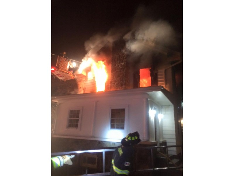 1 Injured in Route 9 House Fire