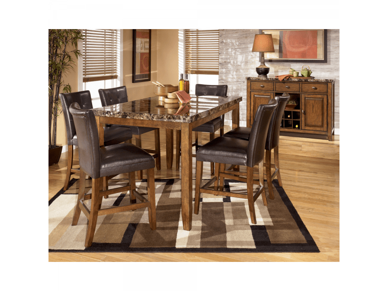 GORGEOUS 7 Pc ASHLEY FURNITURE Dining Room Set And China