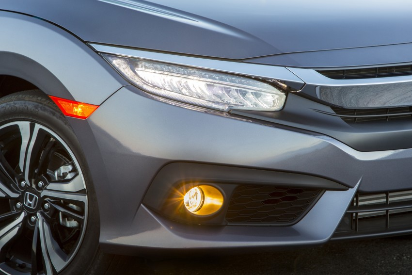 2016 Honda Civic – full technical details on the 10th gen sedan, which benchmarks the 3 Series, C-Class Image #394049