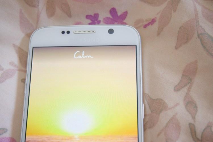 Calm app on my Samsung Galaxy S6