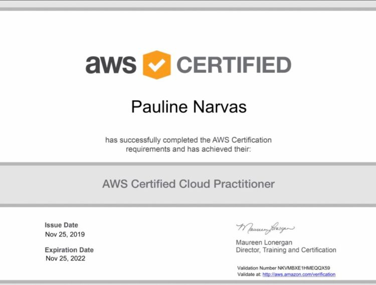 My AWS certification