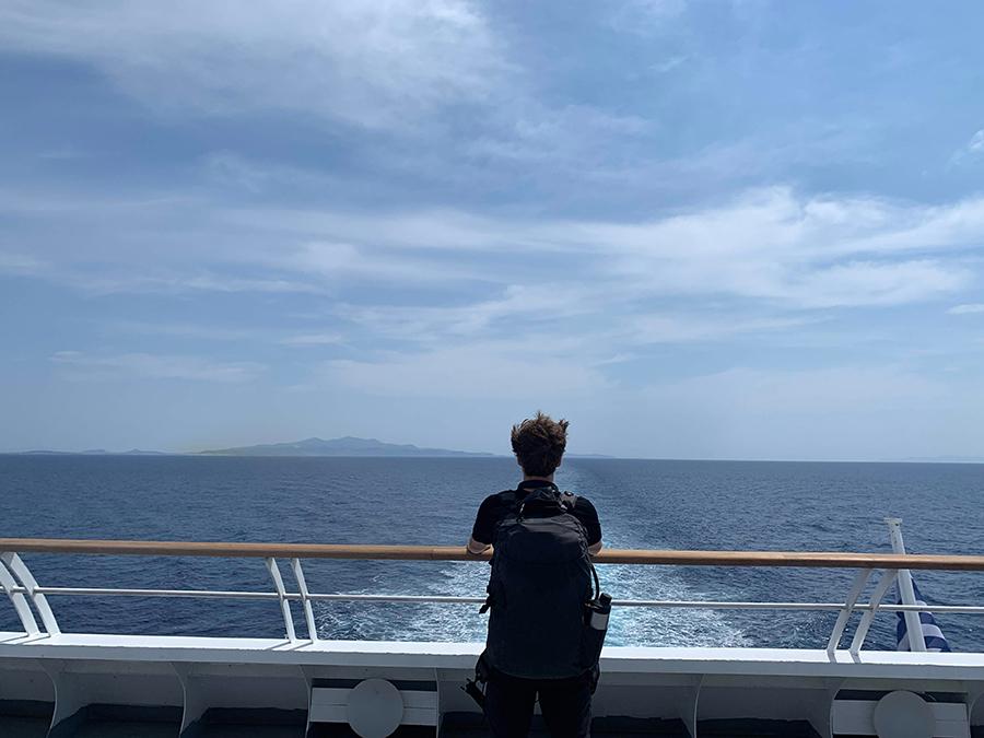 Matt and I island-hopping around the different Greek islands