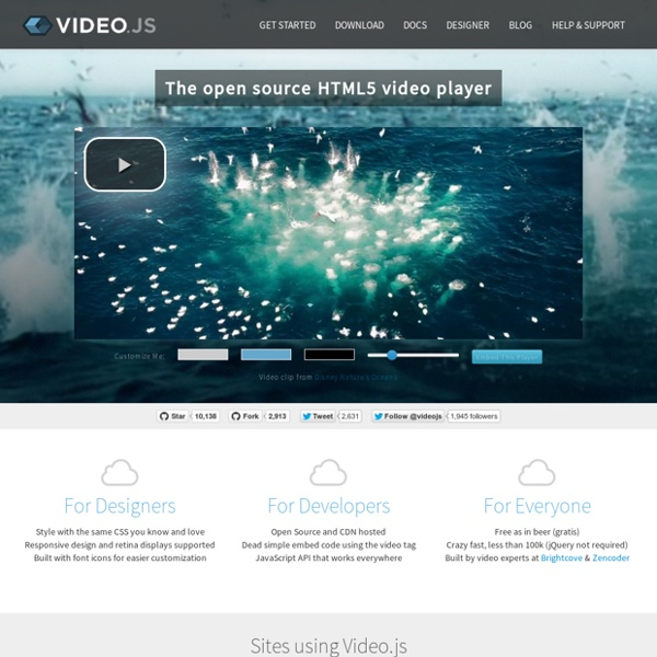 HTML5 Video Player   Pearltrees