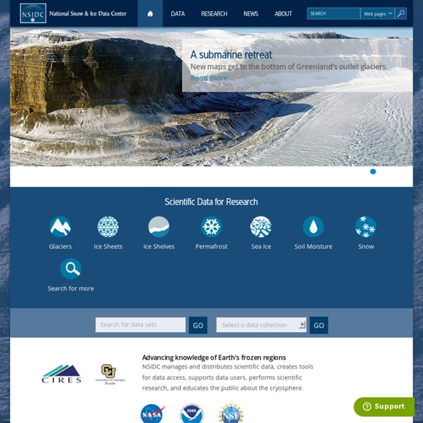 National Snow and Ice Data Center | Pearltrees