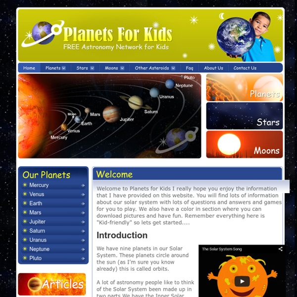 Planets For Kids - Solar System Facts and Astronomy ...