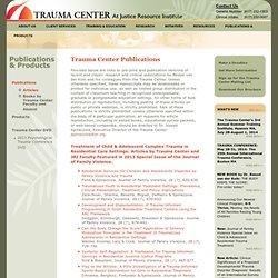 Trauma Informed Care - ljorti   Pearltrees