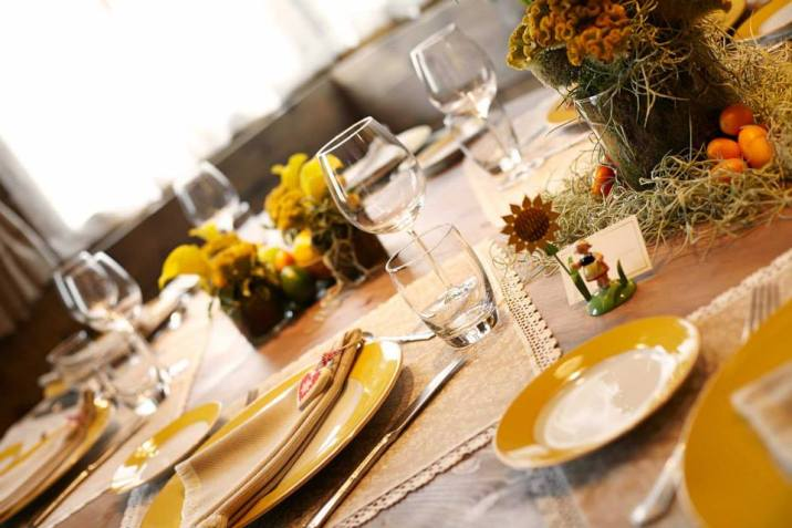 I Tigli in Theoria table setting