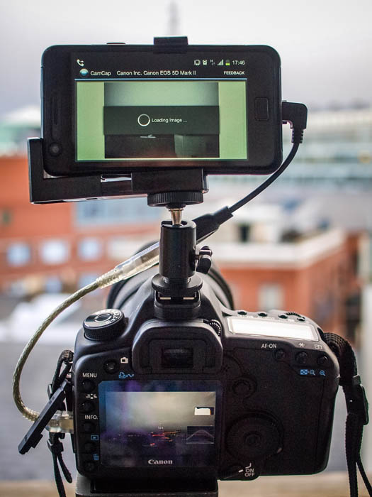 Give Your DSLR a Brain by Connecting an Android Phone phonemounted 4 copy