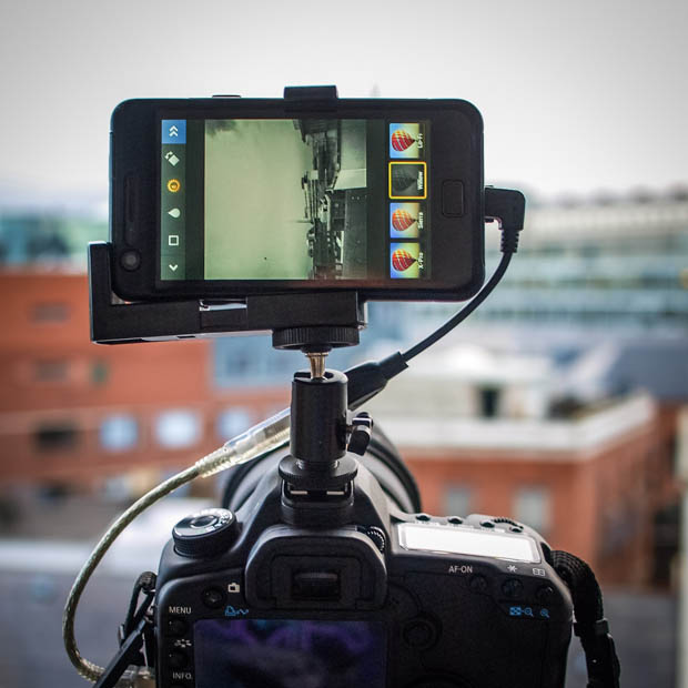 Give Your DSLR a Brain by Connecting an Android Phone phonemounted 7 copy