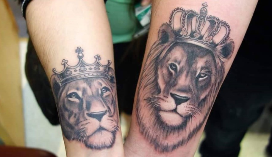 12 Unique Couple Tattoos Lion Tattoo Designs Petpress