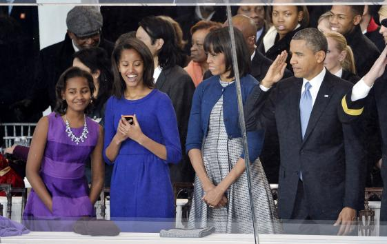 President Obama was sworn-in for a second term as the 44th President of the United States. UPI/Brian Kersey