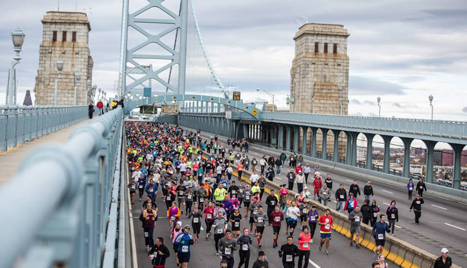 Image result for running ben franklin bridge