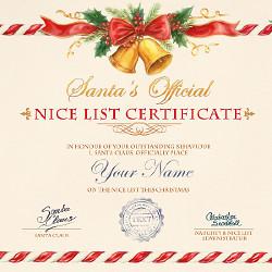 Nice List Certificate PhotoFunia Free Photo Effects And