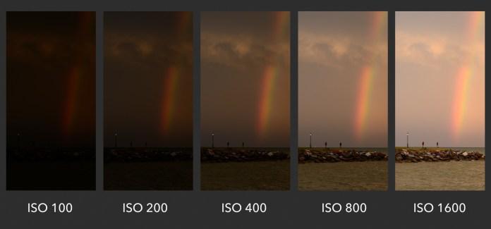 การใช้ ISO ทำให้ภาพสว่างขึ้น ลองดูความต่างระหว่าง ISO 100 ไปจนถึง ISO 1600, Source - photographylife