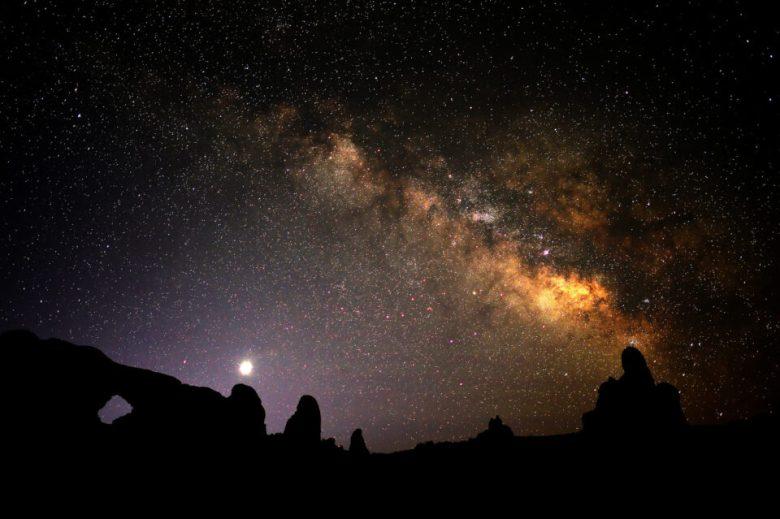 Arches Night Sky by Tom Redd