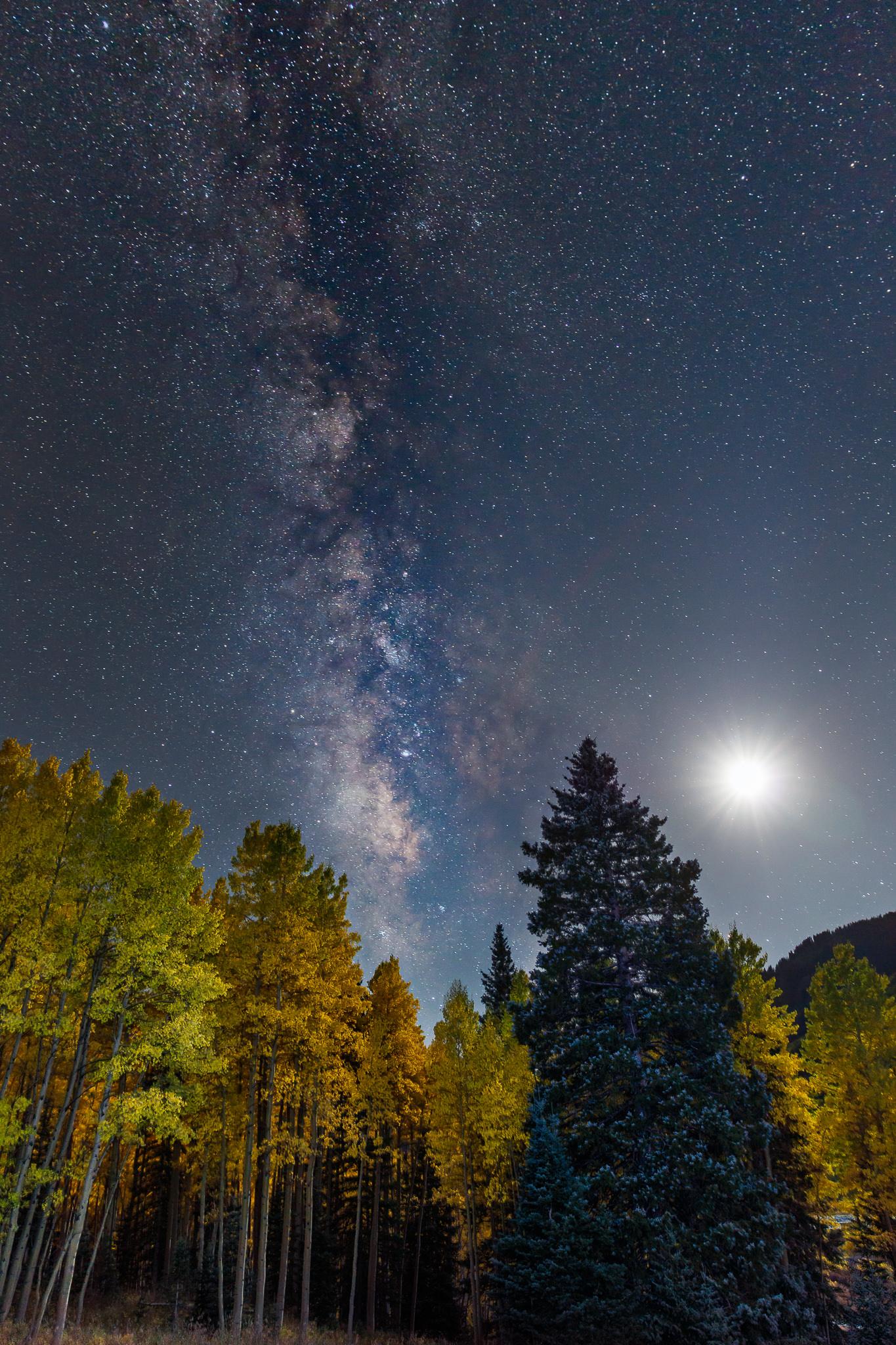 Milky Way Moonrise EXIF