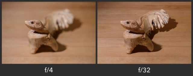 Small and large depth of field