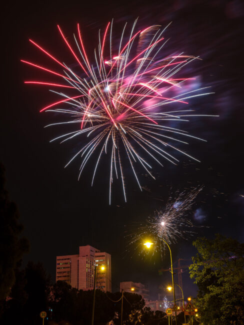 When traveling, it is a good idea to look at local celebrations to see if there are any fireworks shows taking place. I was in Jerusalem during independence day, so I was able to capture fireworks with my camera.