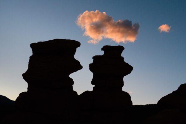 Silhouette Landscape with Cloud
