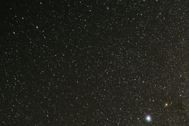 Corner Crop of Stars with Nikon Z 24-70mm f4 S Lens