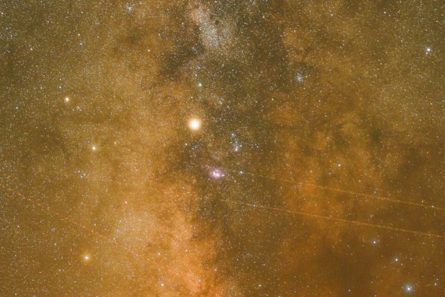 Nikon Z7 Milky Way Photo Crop at ISO 64