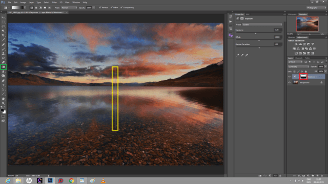 Layer Mask applied to image in Photoshop