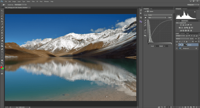 Darks6 channel applied as Layer mask