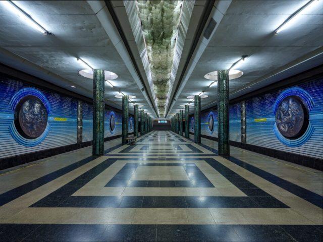 Cosmonauts station in Tashkent Metro